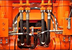 Replace worn hydraulic hoses